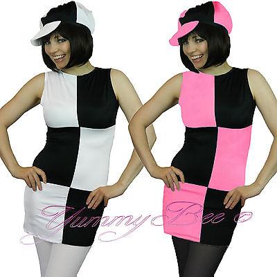 Yummy Bee Disco Fancy Dress Costume Go Mod 70s 60s Retro Plus Size 6-16 + TIGHTS