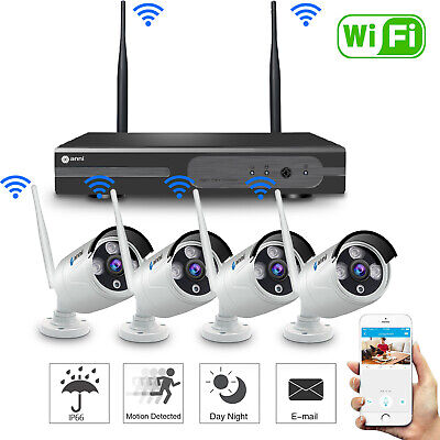 Anni 8CH Wireless 1080P NVR Outdoor Home WIFI Camera CCTV Security System Video
