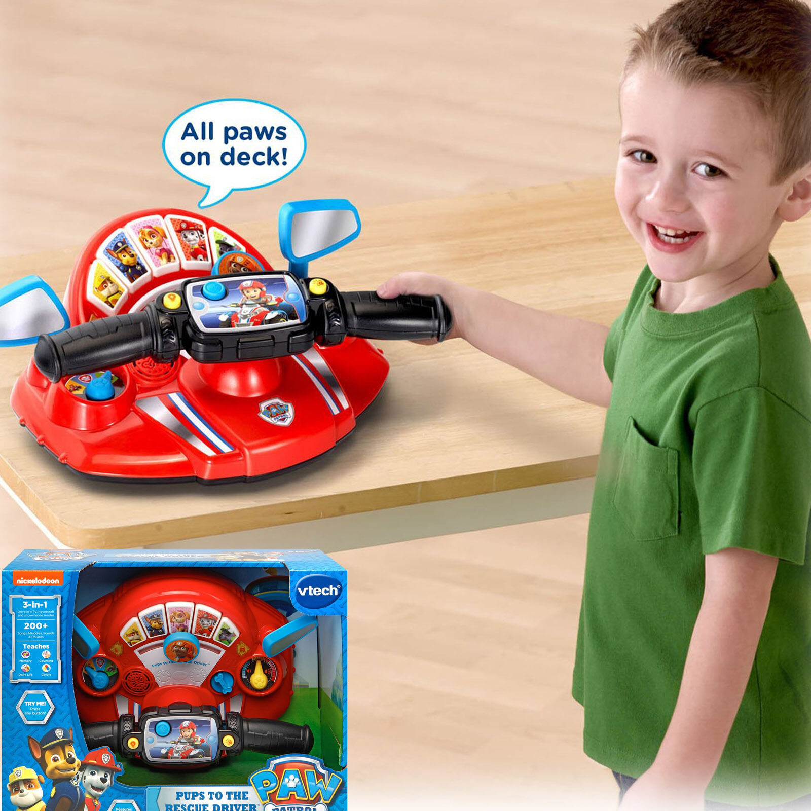 PAW Patrol Game Pup Rescue Driver Vtech Ryder ATV Play Fun P