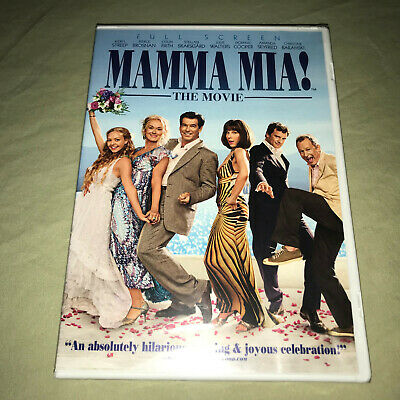 Mamma Mia DVD NEW ABBA Musical Music Movie Meryl Streep Pierce Brosnan