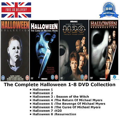 The Halloween Series 1-8 Complete Halloween collection 1 2 3 4 5 6 7 8 New DVD (Halloween 1-8 Collection)