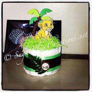 lion king baby simba diaper cake baby shower ebay