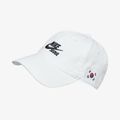 "New Nike H86 Korea Kor QS ""Seoul"" Adjustable Cap/Hat - White/Black(AO0821-101)"
