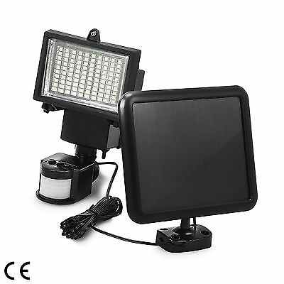 100 SMD LED Solar Powered Sensor Light Security Flood Motion Outdoor Garden Lamp