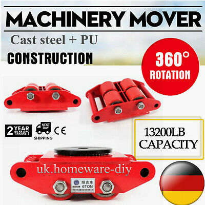 Industrial Machinery Mover W 360rotation Cap 13200lbs 6t Dolly Machinery Skate