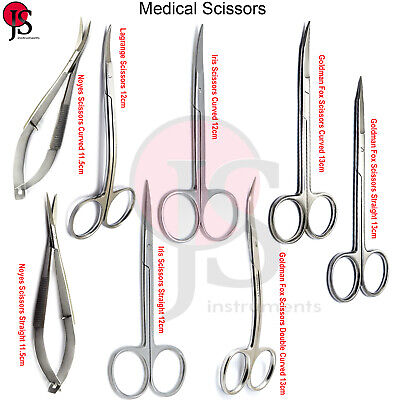 Surgical Dental Scissors Dissecting Cutting Sutures Tissue Sharp Microsurgery