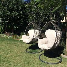 Pair of Hanging Egg Chairs Linden Park Burnside Area Preview