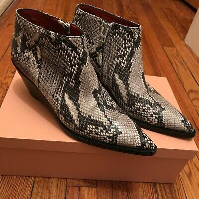 ACNE Studios Snakeskin Python stamped leather Cammie boots - 38 8 fits like 38.5