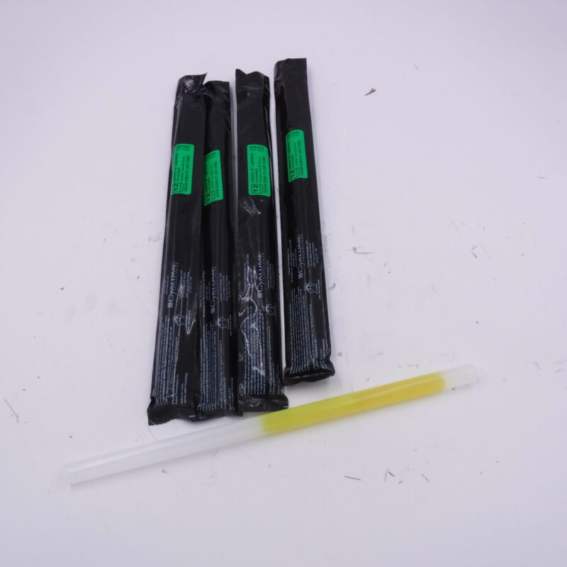 4 Pack Cyalume Technologies 12 HR Green Military 15-Inch Lightstick 9-03620 Chem