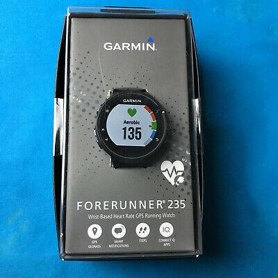 Garmin Forerunner 235 GPS Running Watch & Activity Tracker Black and Grey -New