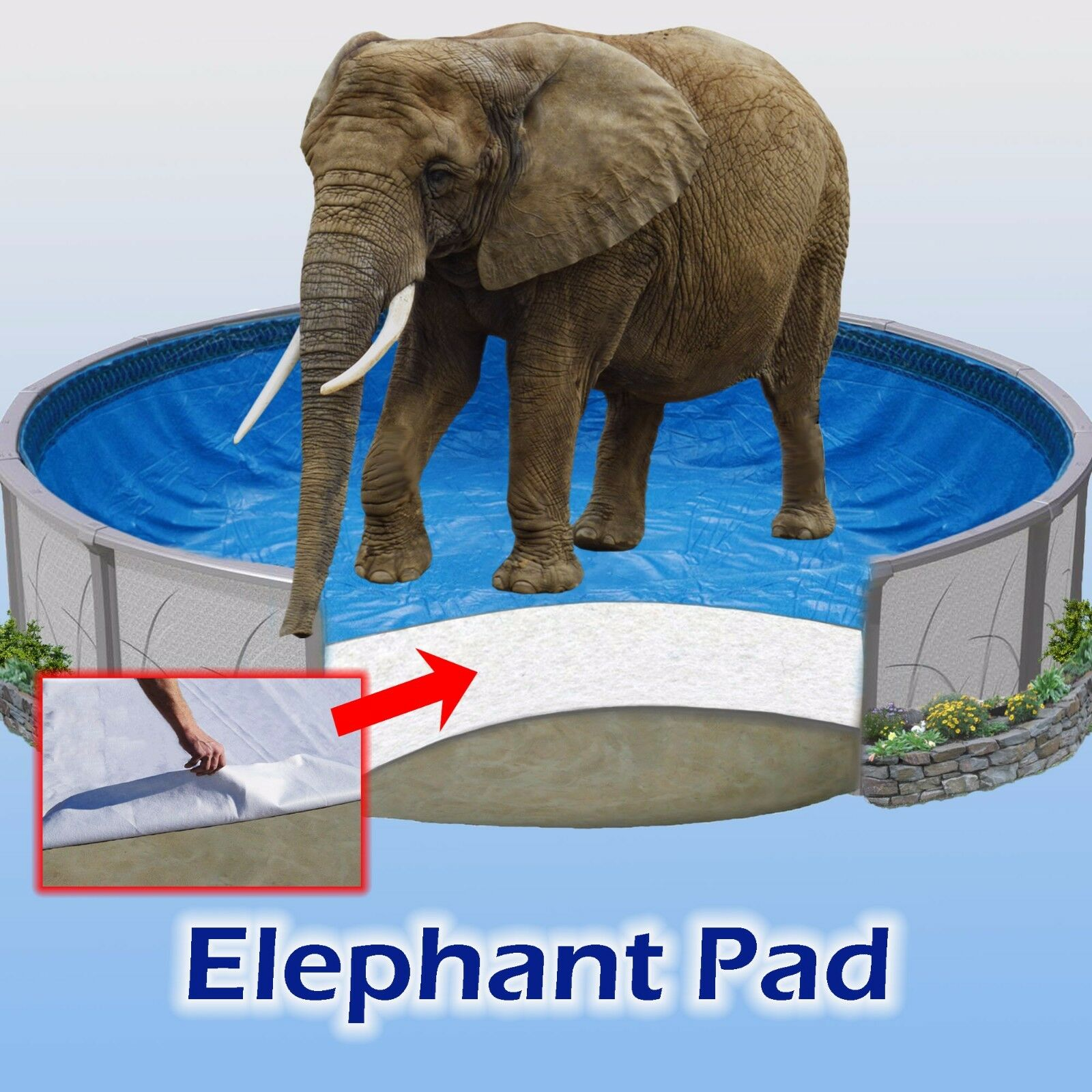 POOL LINER PAD – ELEPHANT beats Gorilla – Guard Armor Shield Liners – ALL SIZES Home & Garden