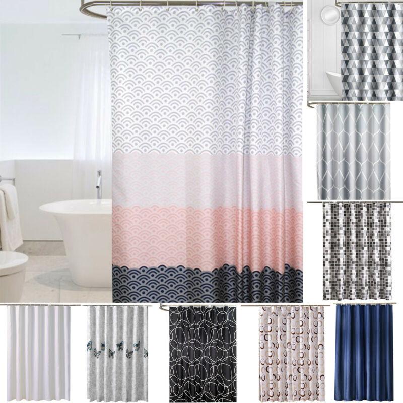 waterproof fabric bathroom bath shower curtain decor