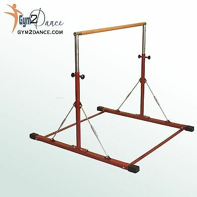 "Gymnastics Bar, LE Brick Red  Adjustable 3' to 5', 1.5"" solid wood, Junior Kip for sale  Anaheim"
