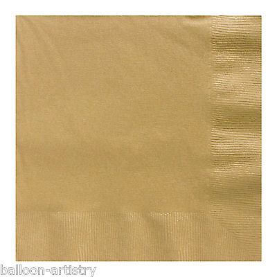 20 GOLD 33cm Paper Napkins Serviettes Birthday Wedding Party Catering