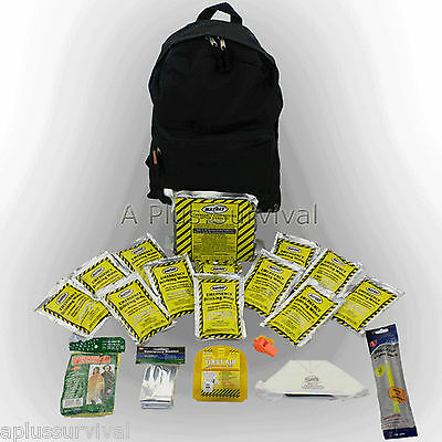 3 Day Emergency Survival Black Backpack Starter Kit Camping Hunting Bug Out
