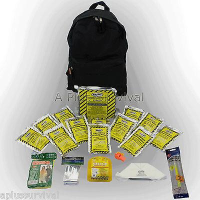 3 Day Emergency Survival Black Backpack Starter Kit Camping Hunting Bug Out
