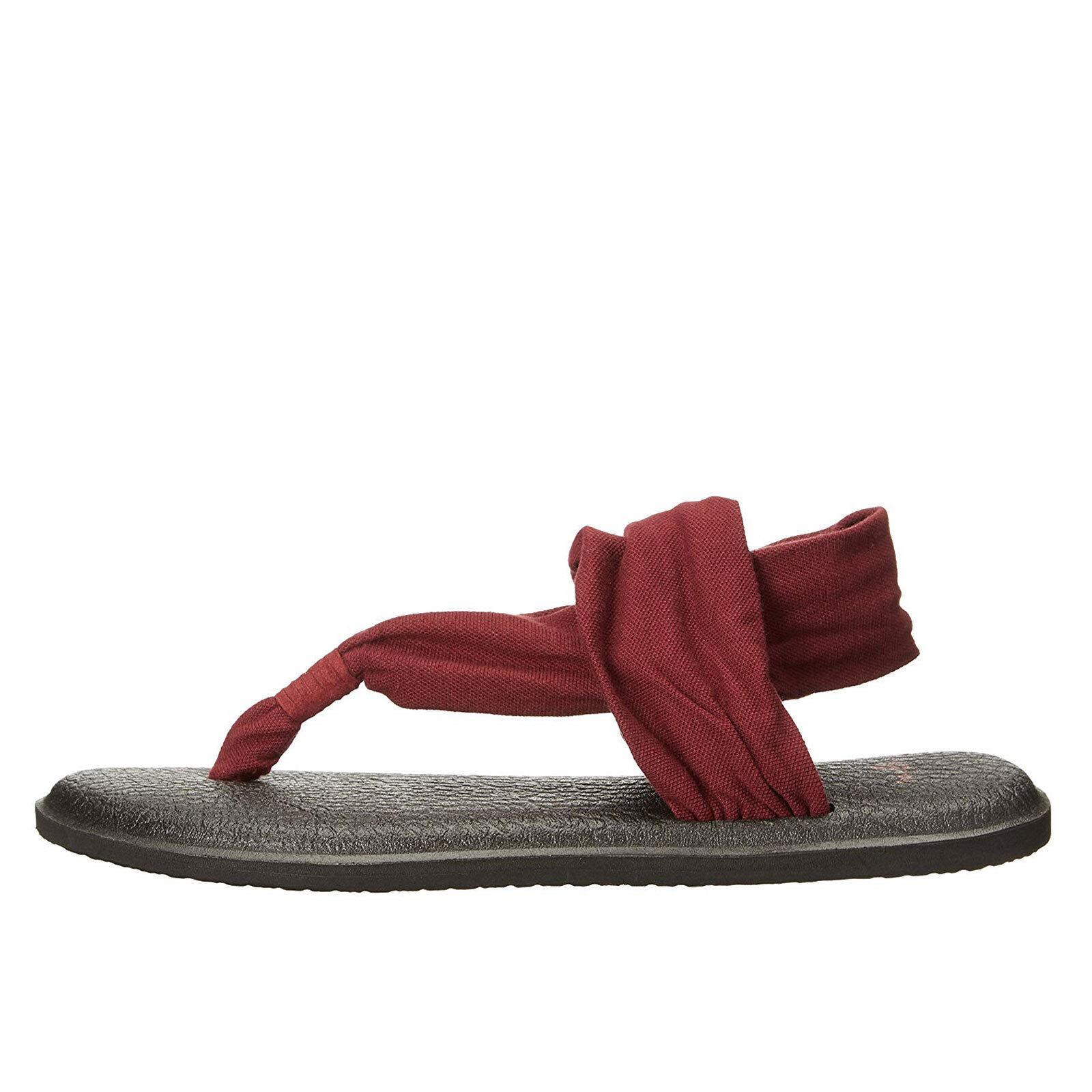 NWT Sanuk Yoga Sling 2 Spectrum Sandals Flip Flops Pink Cabaret Sz 7 8 9 11