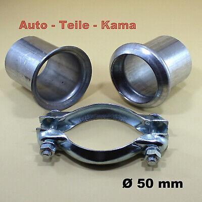 Auspuff Rohr Reparatur Reparaturflansch passend für Peugeot Citroen Renault 50mm