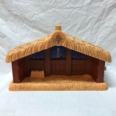 Fisher-Price Little People Christmas Nativity Stable Away In Manger Light Sound