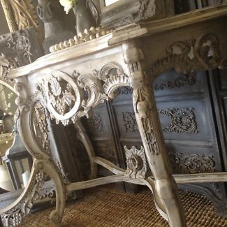 """SOLD P P/U   """"La Dolce Vita!!""""  French Vintage Ornate Hall Table Butler Wanneroo Area Preview"""