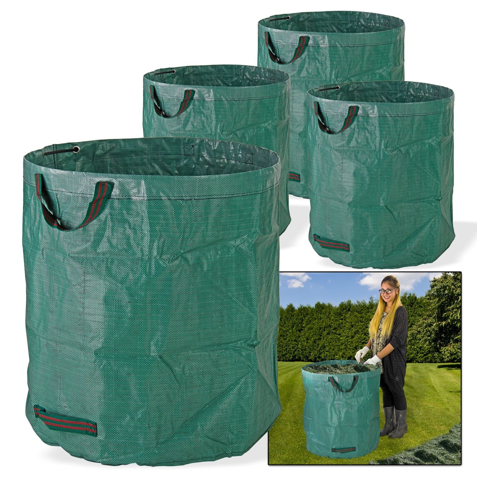 4er Set Garten Abfallsack Laubsack selbstaufstellend pop 272 Liter XXL faltbar
