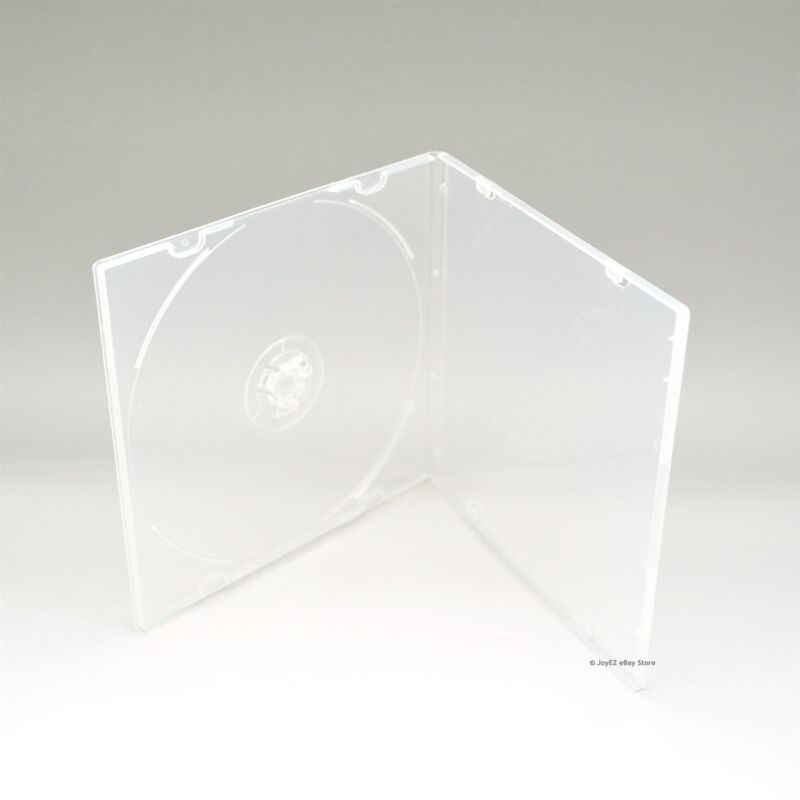 100 Clear 5.2mm Single CD DVD R CDR DVDR Disc PP Poly Plastic Case Outer Sleeve