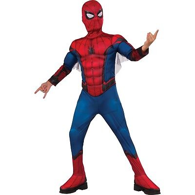 Marvel SPIDER-MAN Muscle Chest Boy Large (10-12)  2-Piece Costume Rubie's