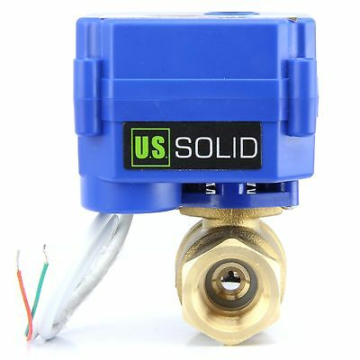 12 Motorized Ball Valve Brass 9v 12v - 24v Normally Closed 2 Wire Auto Return
