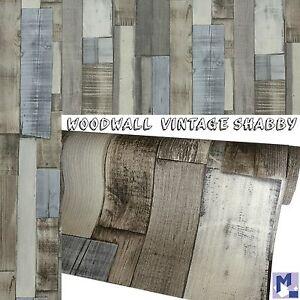 Rasch tappezzeria legno da parete vintage shabby ebay for Tappezzeria da parete