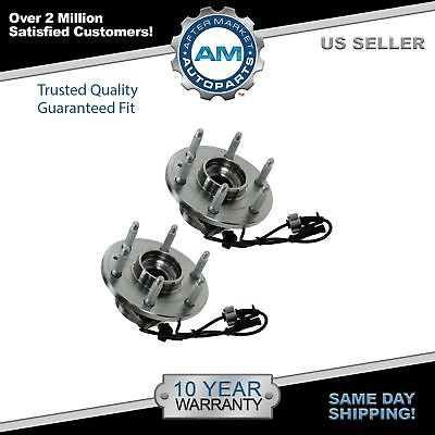 Front Wheel Hub & Bearing Left & Right Pair Set for Chevy GMC Cadillac 4WD