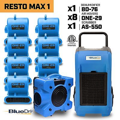 Bluedri Water Damage Industrial Commercial Dehumidifier Air Mover Air Scrubber