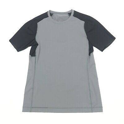 Lululemon Men's Performance Tee T-Shirt Grey Size L Large Athletic Run Workout