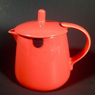 ForLife Red Teabag Teapot & Lid Ceramic 12 Ounce Rubber String Holder Bag Rest