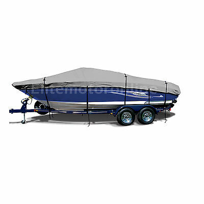 Stratos 183 Elite Bass Trailerable Fishing Boat Cover grey