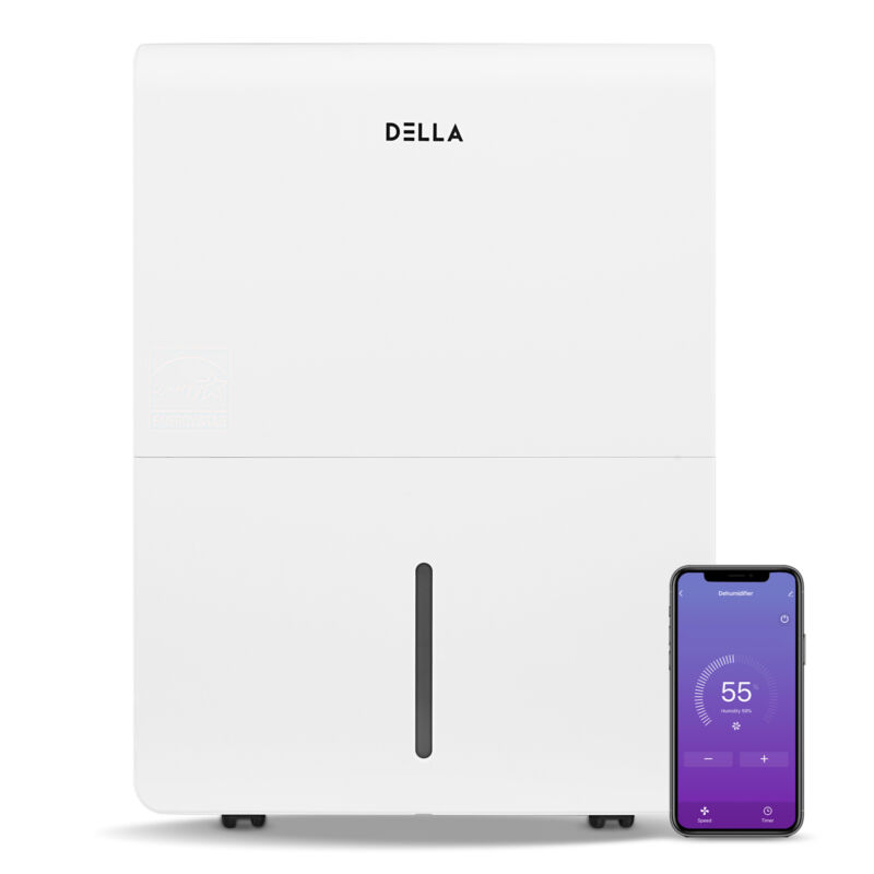 3000 Sq. Ft Wifi Energy Star Dehumidifier, 0.9 Gallon Capacity