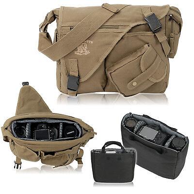 D-SLR Umhängetasche ELEPHANT Canvas Fototasche MALAWI Spiegelreflex Tasche Olive