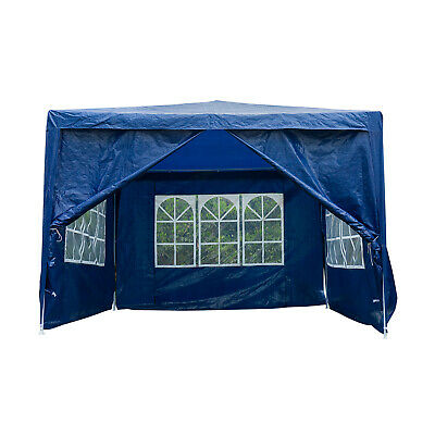 3x3M Gazebo with Sides Waterproof Marquee Canopy Garden Wedding Party Tent Blue