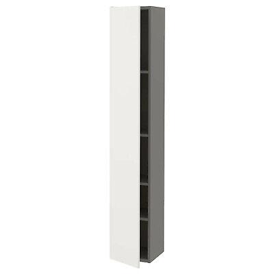 IKEA Alacena Con 4 Pisos + Puertas Armario Armario de Baño,Gris/Blanco 30x30x180