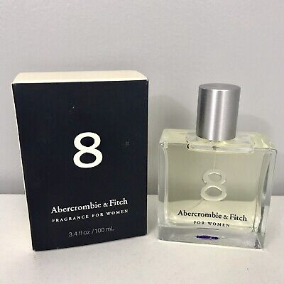 8 by Abercrombie & Fitch Fragrance For Women 3.4 Fl Oz Spray New in Box