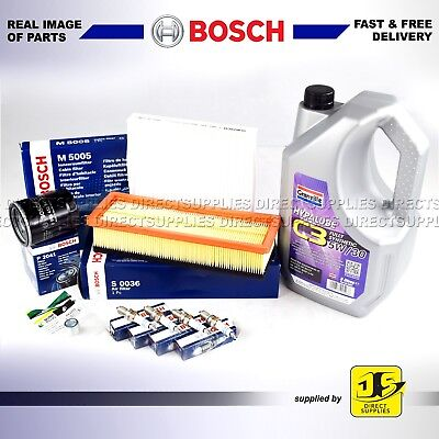 OEM BOSCH SERVICE KIT FIAT 500 1.2i OIL AIR POLLEN FILTERS PLUGS SUMP PLUG & OIL
