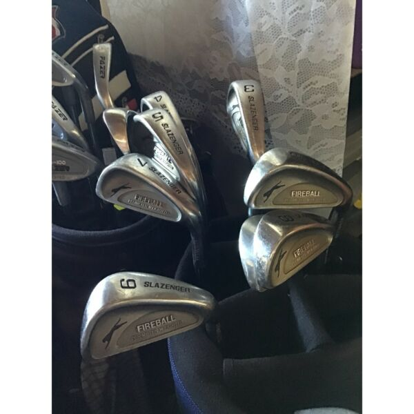 3 x MENS RH Golf Sets, mainly irons, details described by photo no ...