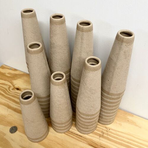 60 Cardboard Paper Yarn cones for Winding Yarn.  Empty New Cones.  MADE in USA