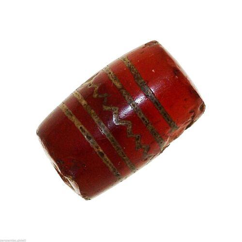 (0384) Buddhist Chung gZi Stone  Bead, China Tibet  涌越秀石珠
