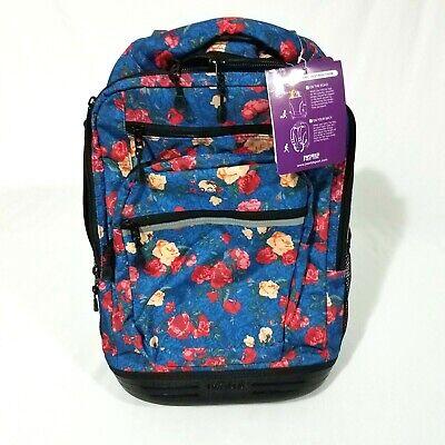 J World New York Sundance Laptop Rolling Backpack, Vintage Rose