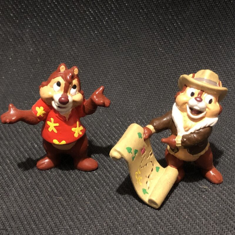 1989 Applause Disney Chip and Dale Rescue Rangers Set of 2 PVC Figures