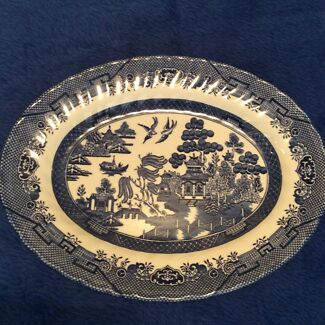 Royal Wessex blue willow oval platter