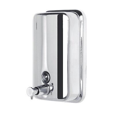 Dispenser sapone muro 500 ml dosatore a parete in acciaio inox portasapone