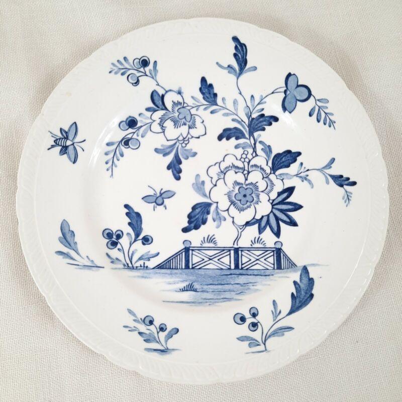 "Royal Tudor Delft Blue/White 7.75"" Saucer Plate Barker Bros. Ltd Eng FREE SHIP!"