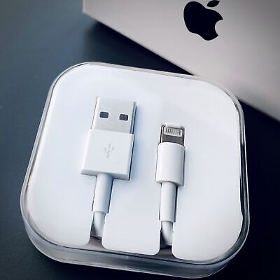 iPhone Charger Cable - Apple Lightning Speedy Sync USB Lead 8 7 5 SE With Boxed