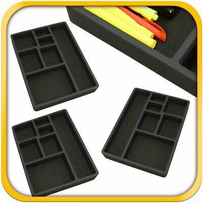 3 Desk Drawer Organizer Insert Black Home Or Office 7 Slot 15.9 X 11.9 New